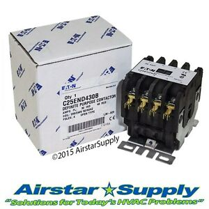 C25END430B Eaton / Cutler Hammer Contactor - 30 Amp • 4 Pole • 208-240V Coil