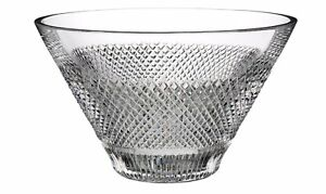 Waterford-Diamond-Line-Crystal-Bowl-New-in-Box-STUNNING-Classic-Modern-Crystal