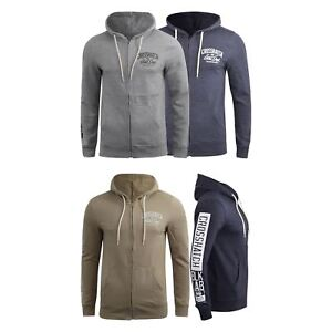 Mens-Crosshatch-Hoodie-Thrive-Full-Zip-Hoody-Pullover-Sweatshirt