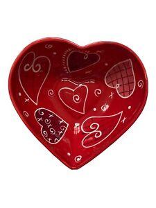 Valentine's Day Red Ceramic Heart Shaped Dish Celebrate It