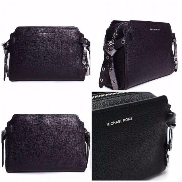 891aedfde5e7 Michael Kors Bristol Medium Black Leather Messenger Bag for sale ...