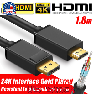 4K-1-8M-DISPLAY-PORT-DP-TO-HDMI-MALE-CABLE-FOR-LCD-PC-LAPTOP-AV-CABLE-ADAPTOR