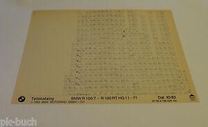 Microfich-Catalogo-de-Piezas-de-Repuesto-BMW-R-100-7-R-100-Rt-Stand-10-1983