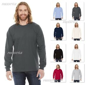 651508ccab NEW! American Apparel Men s Fine Jersey Long Sleeve 100% Cotton T ...