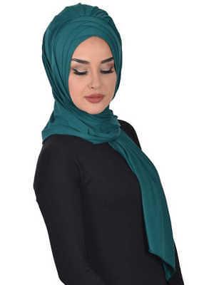 BO-15 Fertig Kopftuch Praktisch Hijab Bone Türban Esarp Sal Tesettür Khimar