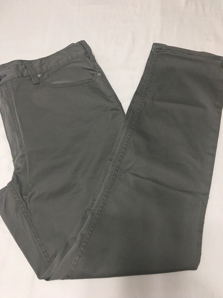 New Polo Ralph Lauren Men's 40 x 32 Pants Stretch Slim Straight Fit CLG Grey