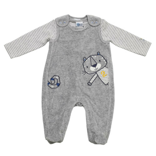 Jungen 65324156 Salt /& Pepper Baby Playsuit Tiger Nicki grau oder blau
