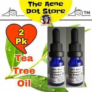 2x Tea Tree Oil Stubborn Acne Treatment Natural Skin Care Cystic