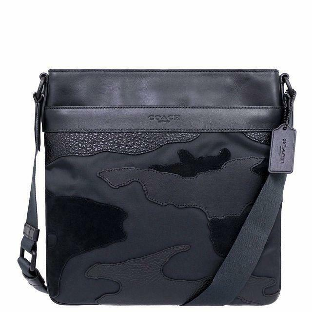 be4c1d363 Men Coach F11588 Charles Crossbody Bag in Blackout Mixed Materials