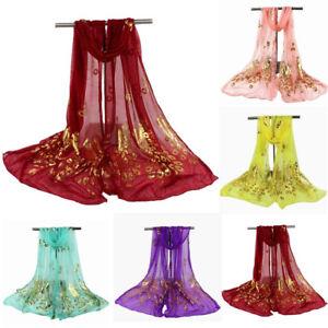 1xFashion-Women-Lady-Multi-color-Peacock-Flower-Scarf-Long-Soft-Wrap-Shawl-Stole