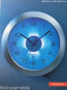 Superior Das Bild Wird Geladen Funk Wanduhr Beleuchtung  Licht Wand Uhr Funkuhr Sensor  Design Inspirations