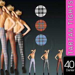New-Tartan-Ladies-Women-Tights-Pantyhose-Scottish-Clans-Check-40-Denier