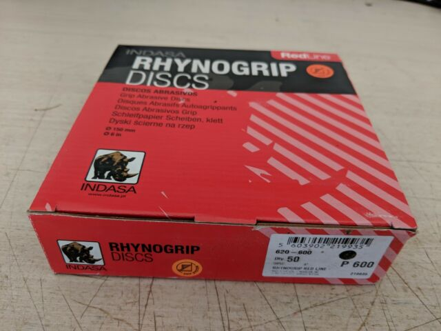 INDASA Redline XL RHYNOGRIP Hook and Loop Solid Discs 6 1000 GRIT ...