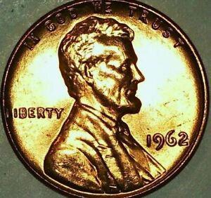 1962-P Lincoln Memorial Cent - DDO-031, 31-O-V-CW - RED GEM BU - Free Shipping