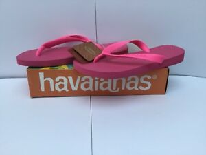 e9099ce357c7a2 Havaianas Women s H Top Flip Flops Shocking Pink Size 35 36 UK 3 4 ...