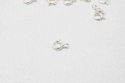 pack of  10 Made In Italy Sterling Silver Spring Ring Clasp 5 mm