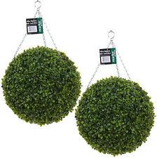 Gentil 2 Artificial Green Topiary Balls Buxus Leaf Garden Hanging Grass Wedding  Outdoor