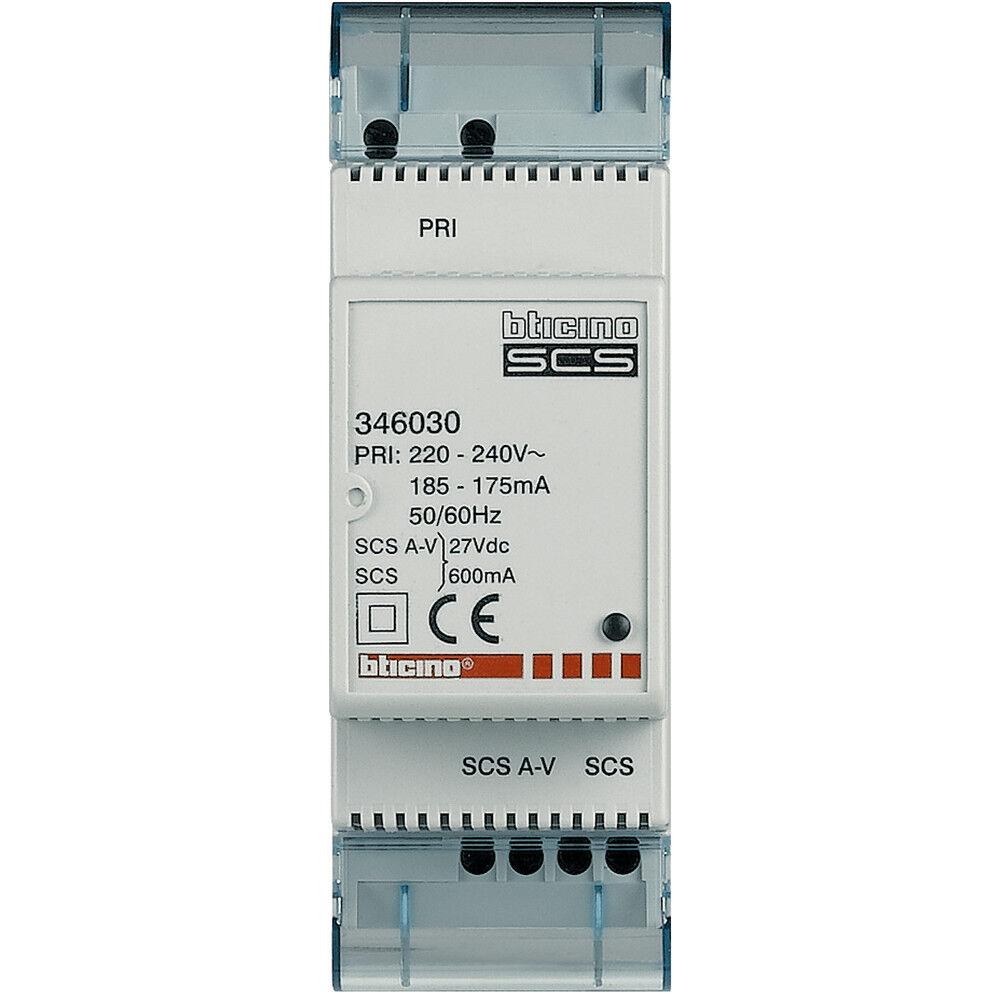 BTICINO TERRANEO 346030 minialimentatore con adattatore video integrato 2 DIN