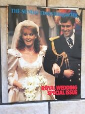 Fergie and Andrew Royal Wedding Sunday Times Magazine Special Issue