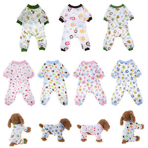 Pet Dog Cotton Sleep Jumpsuit Knitted Puppy Pajamas Apparel Pet Dog Home Clothes