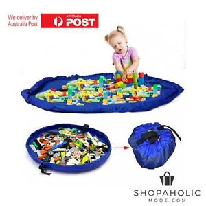 XL Portable Kids Toy Storage Play Mat Lego Bag Toys Organizer Bin Box 150CM