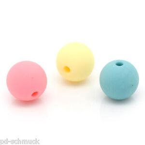 P-D-100-Mix-Bonbonfarben-Spacer-Kugeln-Beads-Schmuckperlen-9x10mm