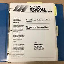 Gradall Xl4300 Ii Excavator Parts Manual Book Catalog Guide Telescopic Backhoe