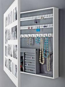 schmuckschrank mit bilderrahmen schmuck uhren schrank aufbewahrung shabby neu. Black Bedroom Furniture Sets. Home Design Ideas