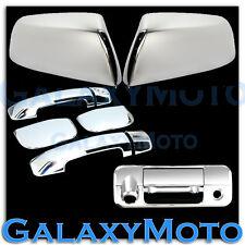 07-13 TUNDRA DOUBLE CAB Chrome HALF Mirror+4 Door Handle+Tailgate Camera Cover
