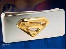 Superman Money Clip Stainless Steel & 24K Gold Plate Licensed Noble Merchandise