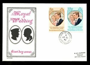 BRITISH-ANTARCTIC-TERRITORY-1973-ROYAL-WEDDING-ILLUSTRATED-FDC-ARGENTINE-ISLAND