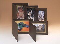 Kenro 5x7 marrón vista Formato Foto Carpetas Con Ribetes De Oro Caja De 50