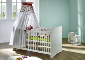 Babyzimmer möbel holz  Massivholz Babybett weiß kiefer holz Kinderbett Gitterbett ...