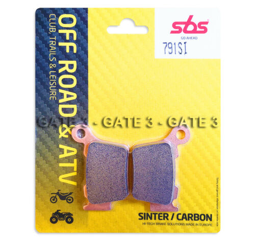 KTM 125XCW XCW 125 2017-2019 SBS 791SI Sintered Competition Rear Brake Pads