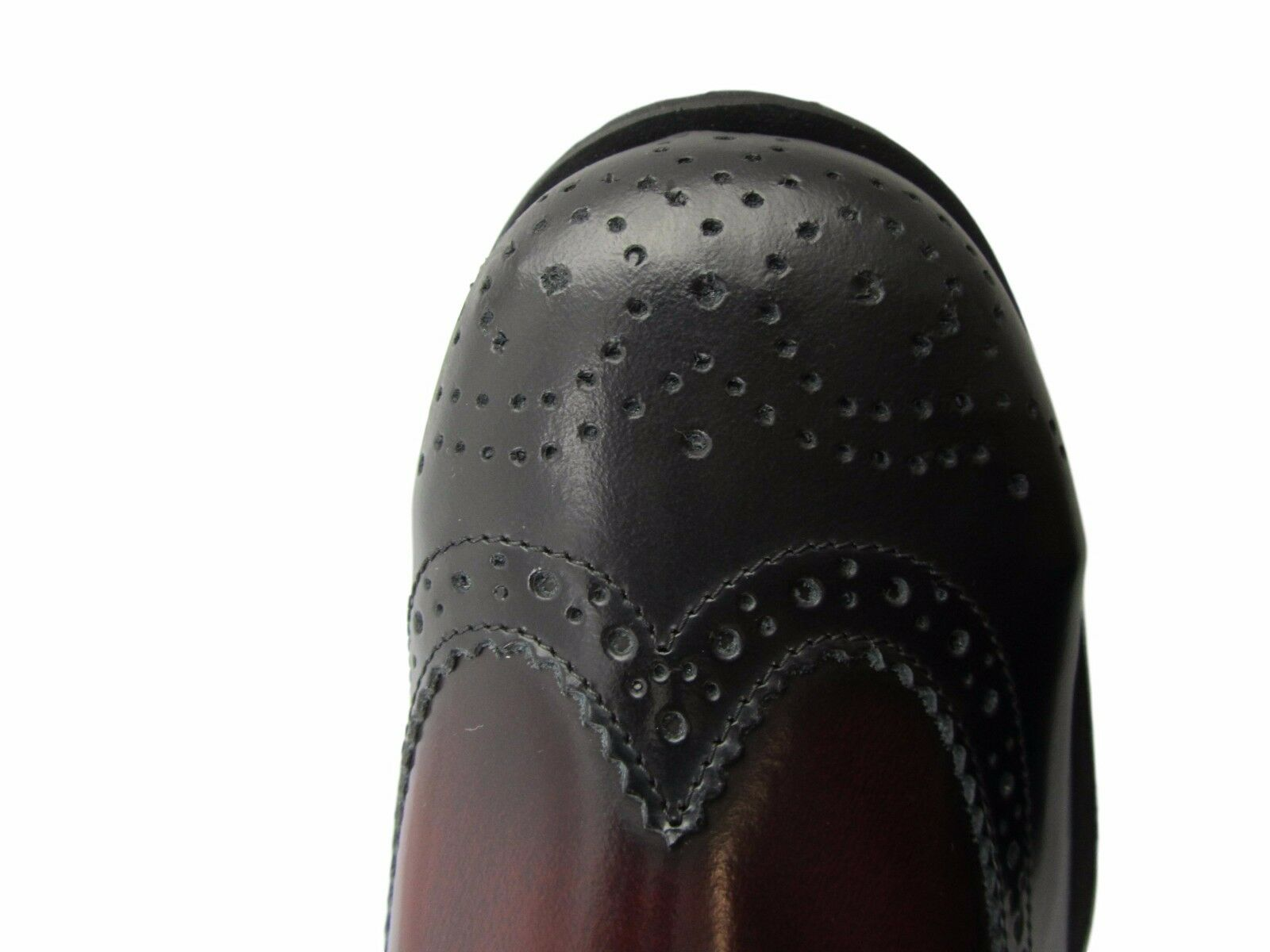 Steel Ground Burgundy Red Leather Brogue Shoes Eyelets Safety Under Cap 4 Eyelets Shoes Shoe c09ccf