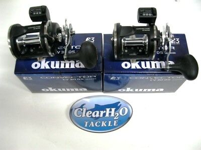 2PK Okuma Convecteur CV-45L Level Wind Moulinet traine Leadcore cuivre