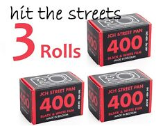 3 Rolls JCH Street Pan ISO 400 Black & White 35mm Print Film StreetPan FREE SHIP