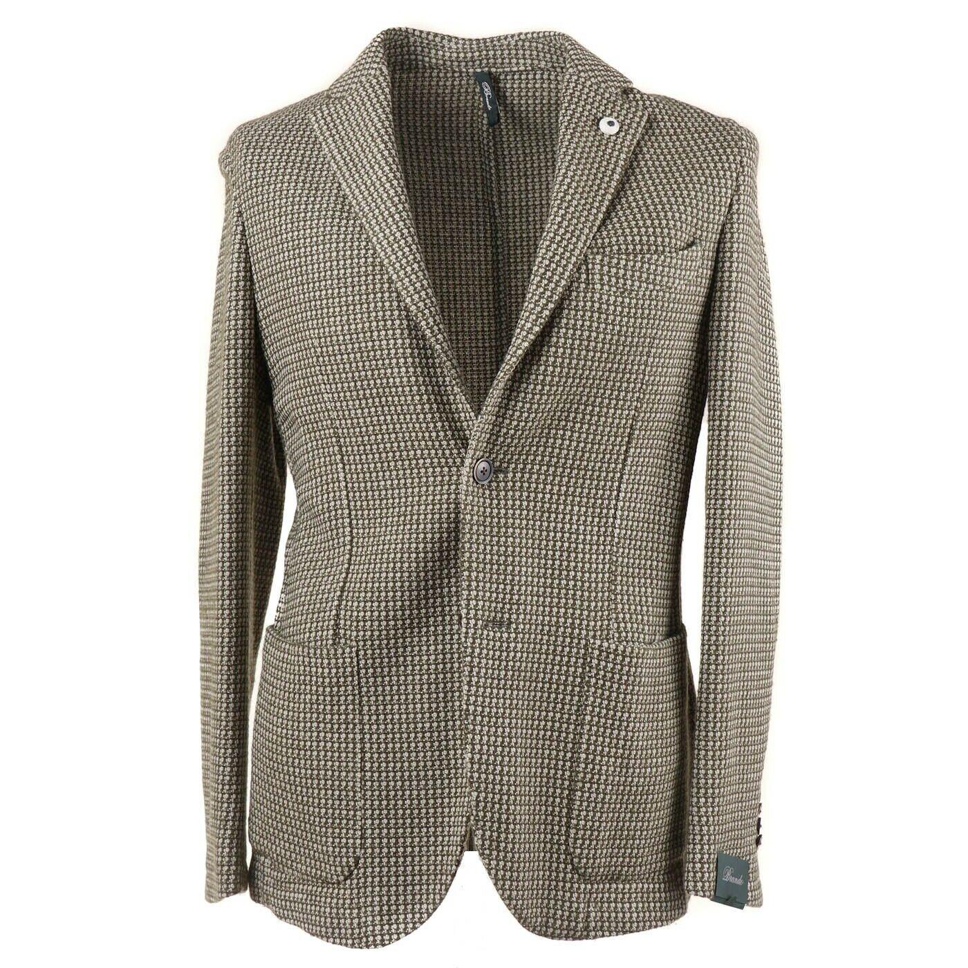 NWT  BRANDO (L.B.M. 1911) Green Knit Wool and Cotton Sport Coat 38 R