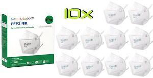 10x MedMaXX FFP2 NR Atemschutzmaske Größe XS, auch für Kinder geeignet, weiß