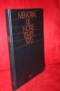 1970 Grands Thèmes De L'année Memorial De Notre Temps (beau Livre Anniversaire)