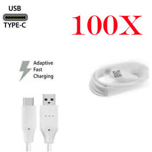 100X For LG Samsung USB C Type-C Fast USB Charging Data SYNC Charger Cable Cord