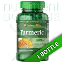 Puritan's Pride Turmeric 800mg Antioxidant Naturally Contains Curcumin 100 Caps