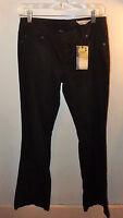 Womens Chor Black Jeans Size 5 Boot Cut 34 Inseem, 30 Waist Design On Back