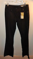 Womens Chor Black Jeans Size 5 Boot Cut 34 Inseem, 30 Waist Design On Back