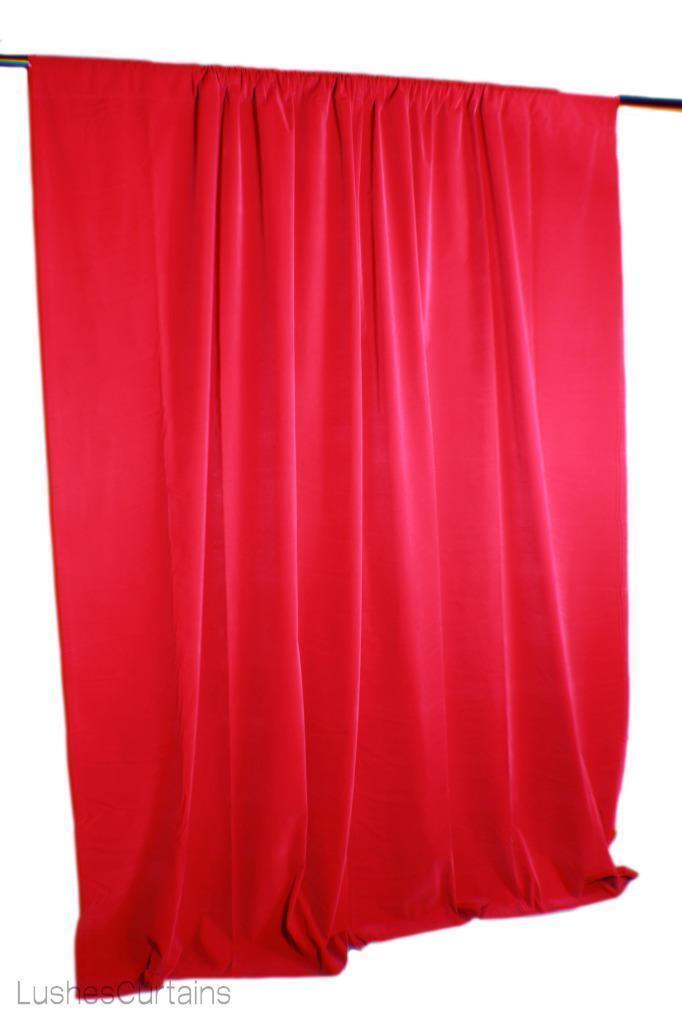Fuchsia 274cmH Samt Vorhang Lang Einzel Platte Hochzeit Boutique Dekor Textilien