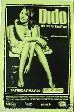 """DIDO 2004 """"THE LIFE FOR RENT TOUR"""" SAN DIEGO CONCERT POSTER - Sitting In Chair"""