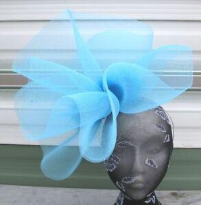 Aimable Bleu Turquoise Bandeau Bandeau Fête De Mariage Course Ascot Bridal