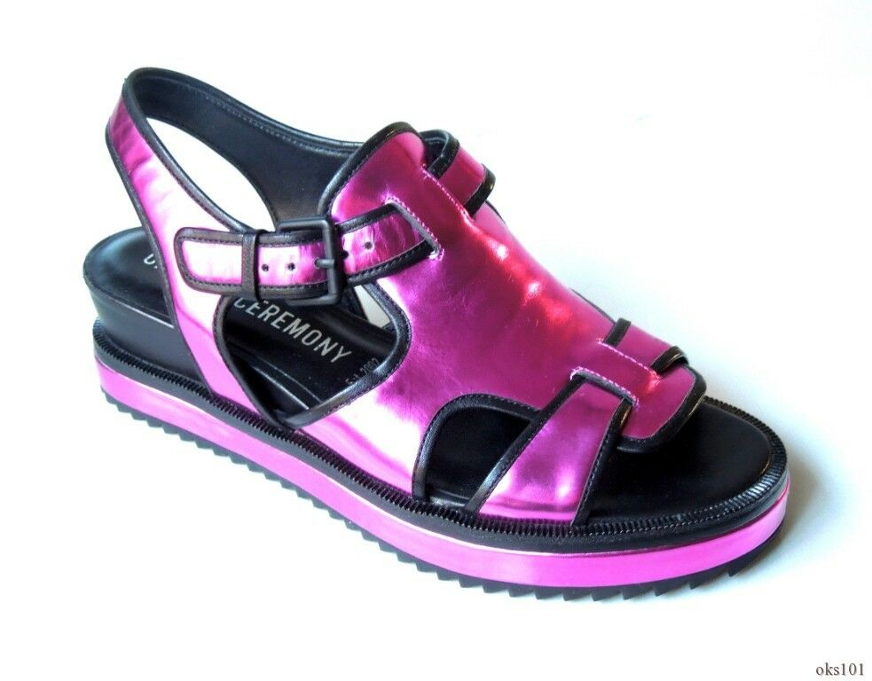 New  395 OPENING CEREMONY purple open toesmall wedge sandals shoes 39 US 8 8.5