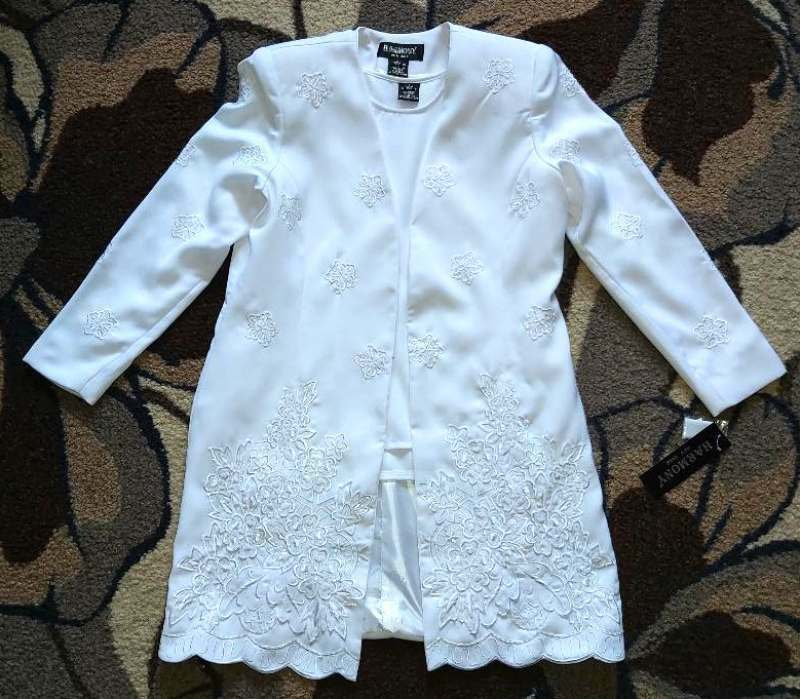NWT HARMONY Formal Embroidered/ Beaded Set of 2 Pcs:Sleeveless Top & Jacket Sz 8