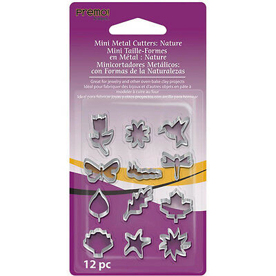 Premo Mini Metal Clay Cutters 12 PC Set - Nature Shapes(#AMMCNT)
